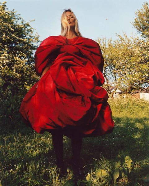 Red, Clothing, Dress, Outerwear, Fashion, Gown, Photo shoot, Tree, Photography, Formal wear,