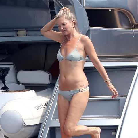 Kate Moss, vacaciones en Saint Tropez.