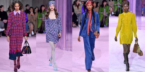 Fashion, Fashion model, Fashion show, Clothing, Runway, Fashion design, Event, Haute couture, Footwear, Spring,
