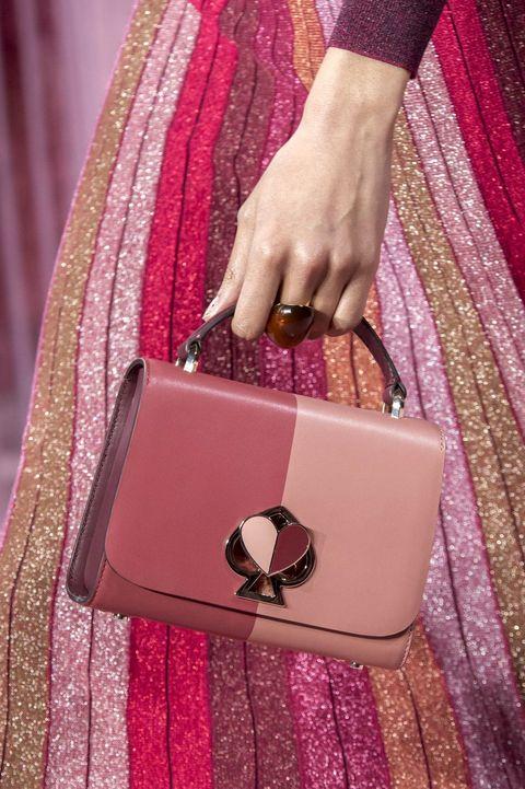 Pink, Handbag, Magenta, Bag, Purple, Fashion accessory, Coin purse, Hand, Nail,