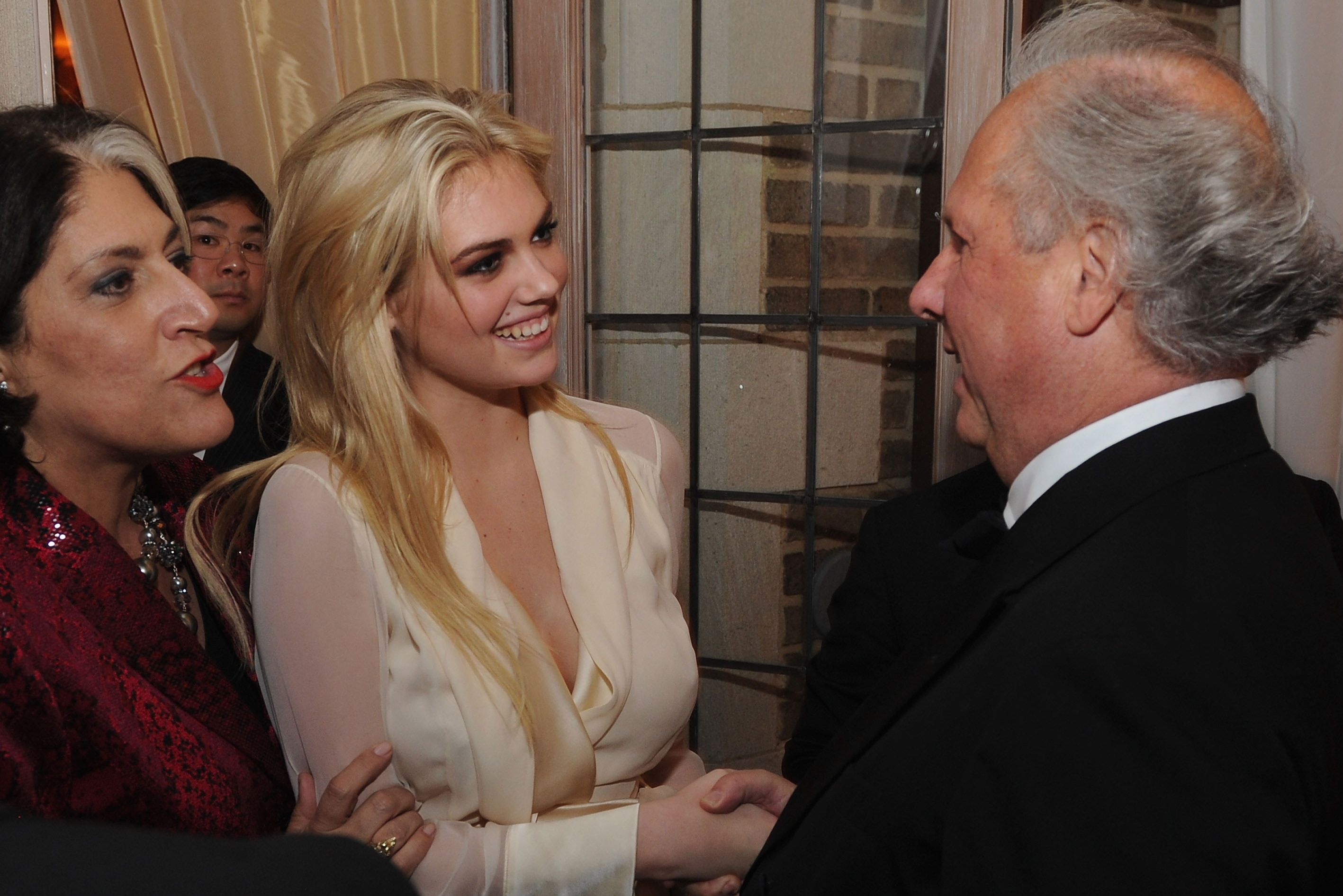 Tammy Haddad, Kate Upton, and Graydon Carter