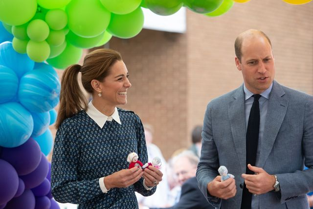 norfolk, united kingdom   july 05 catherine, duchess of cambridge and prince william, duke of cambridge visit to queen elizabeth hospital in kings lynn as part of the nhs birthday celebrations on july 5, 2020 in norfolk, england sunday marks the 72nd anniversary of the formation of the national health service nhs the uk has hailed its nhs for the work they have done during the covid 19 pandemic photo by joe giddens   wpa poolgetty images