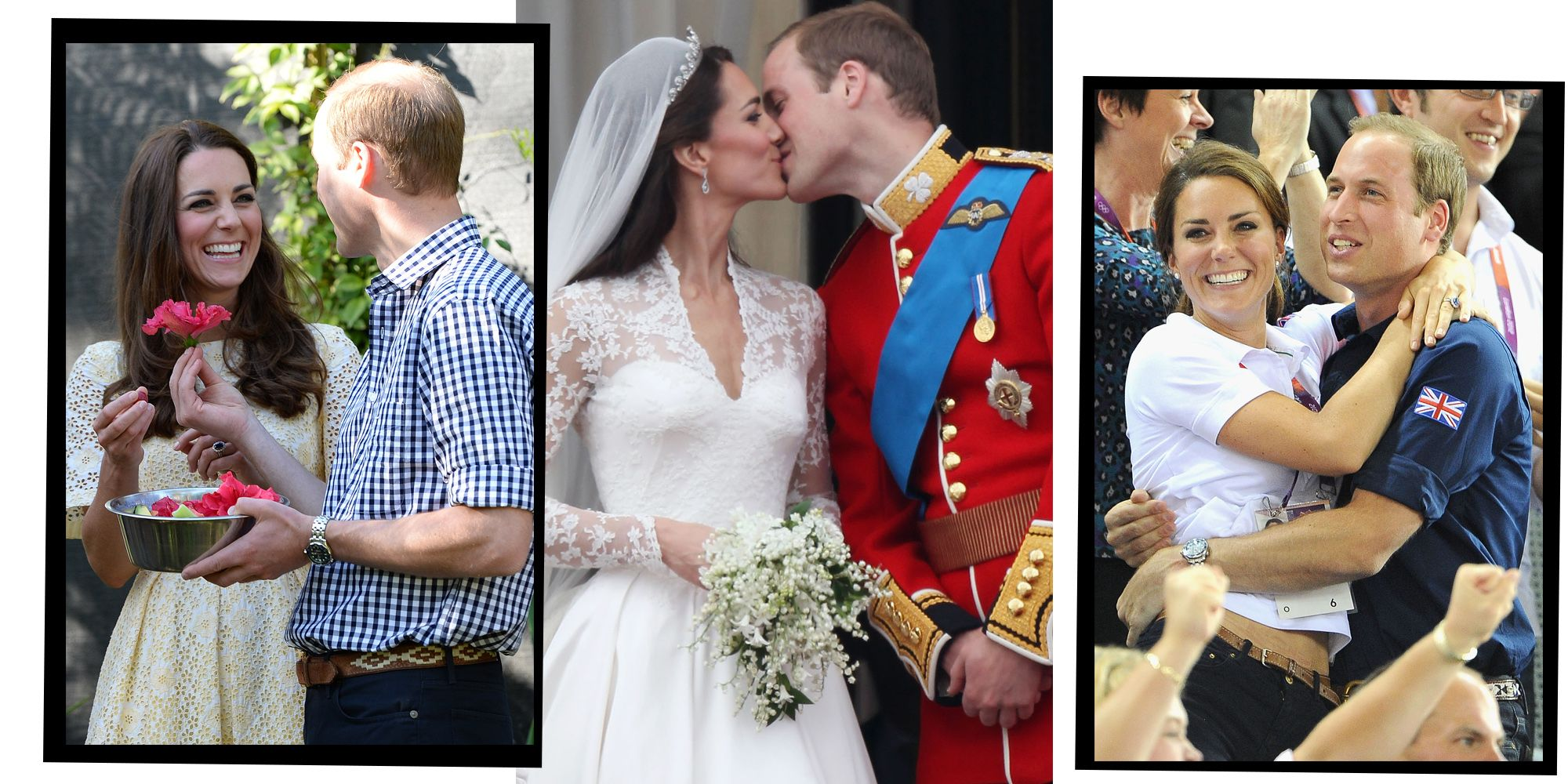 16 Of Kate Middleton And Prince William's Sweetest PDA Moments, From Royal Wedding To Overseas Tours