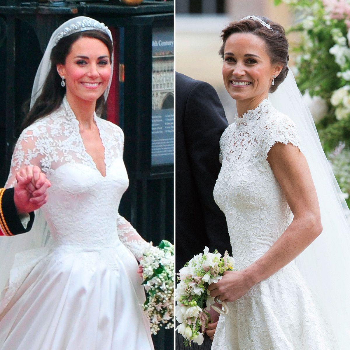 b3370b98b Los vestidos de novia de Kate y Pippa Middleton