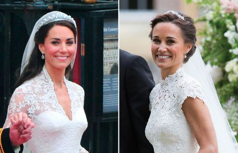 los vestidos de novia de kate y pippa middleton, en versión 'low-cost'