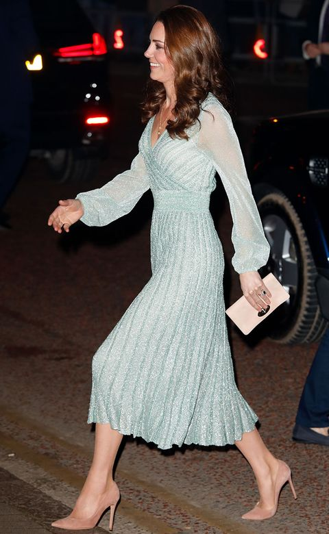 4a95c96bc1 Kate Middleton dress  The Duchess looks like a mermaid in a sparkly ...