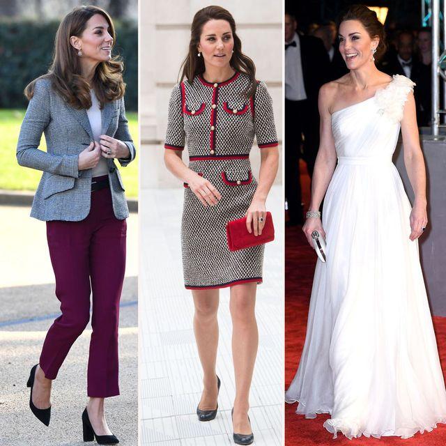 la duquesa de cambridge con tres modelos diferentes