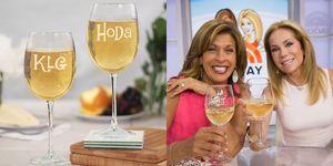 kathie lee and hoda wine glasses