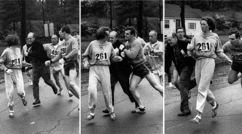 Who is Kathrine Switzer and how did she change women's running?