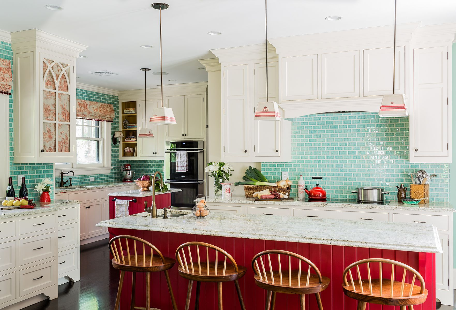 Charmant Red Kitchens