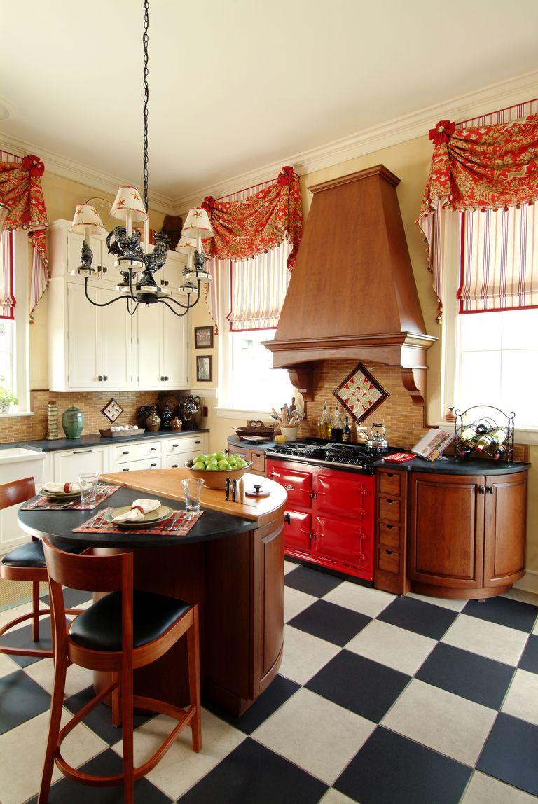 30+ Best Red Kitchens - Red Kitchen Decor