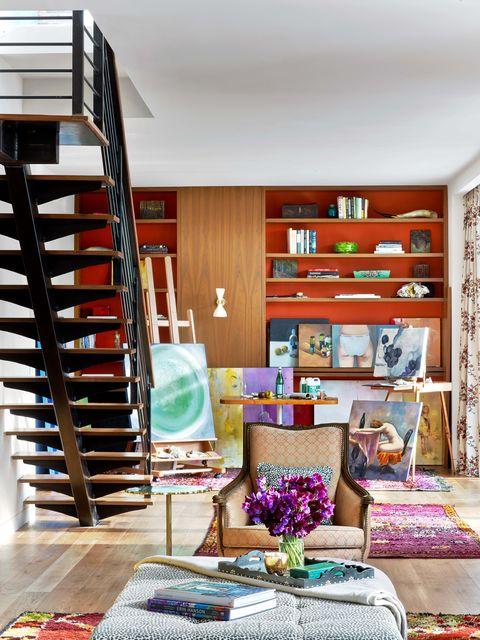 Living room, Furniture, Room, Interior design, Shelf, Shelving, Home, Property, House, Building,