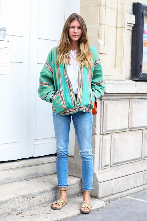 Clothing, Jeans, Street fashion, Denim, Blue, Turquoise, Jacket, Outerwear, Fashion, Blazer,