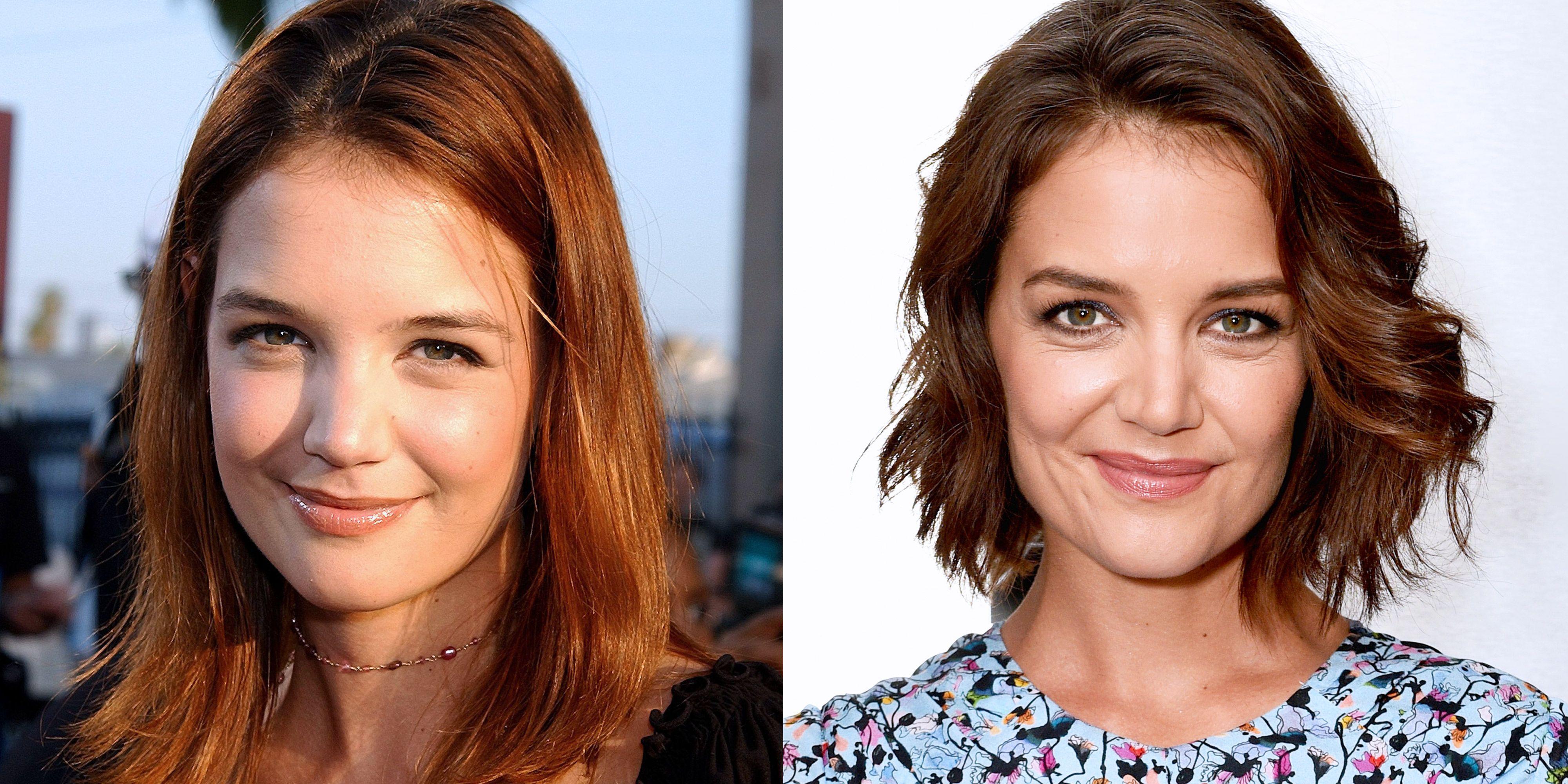 Katie Holmes Hair Evolution