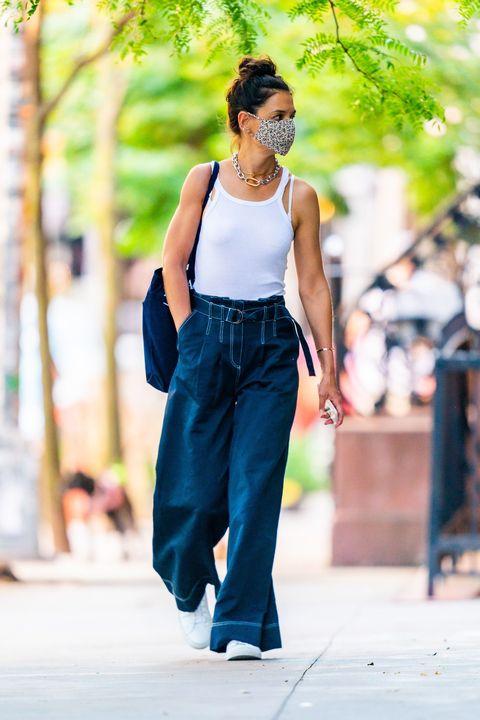 katie holmes op de straten van new york