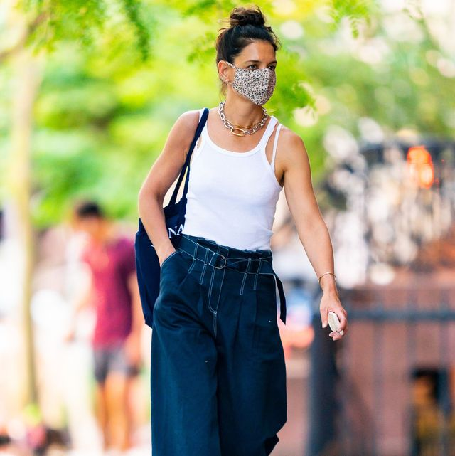 katie holmes, celebrity mask style