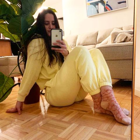 floor, leg, flooring, beauty, yellow, hardwood, wood flooring, sitting, laminate flooring, black hair,