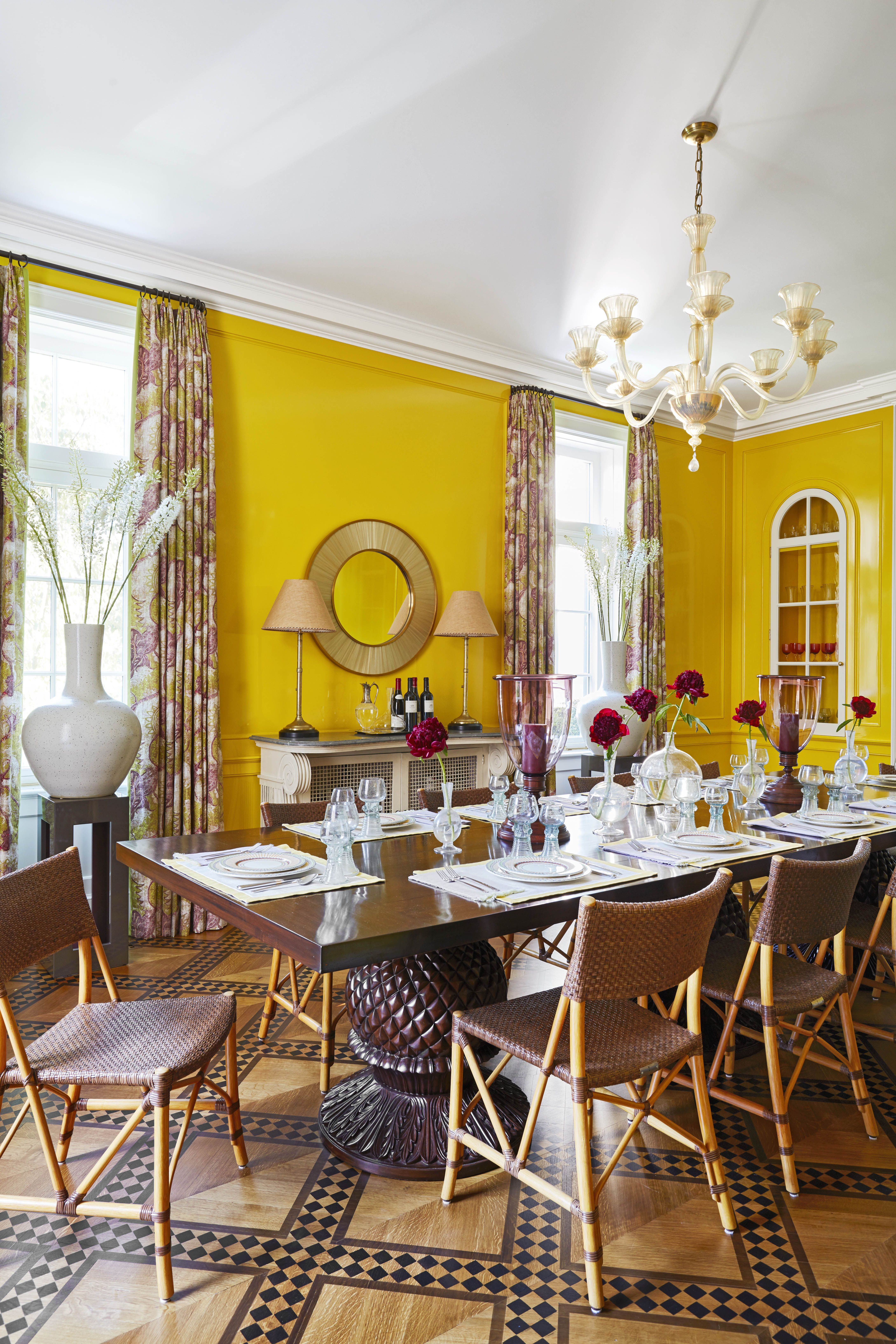 30 Best Dining Room Paint Colors, Yellow Dining Room Paint Colors