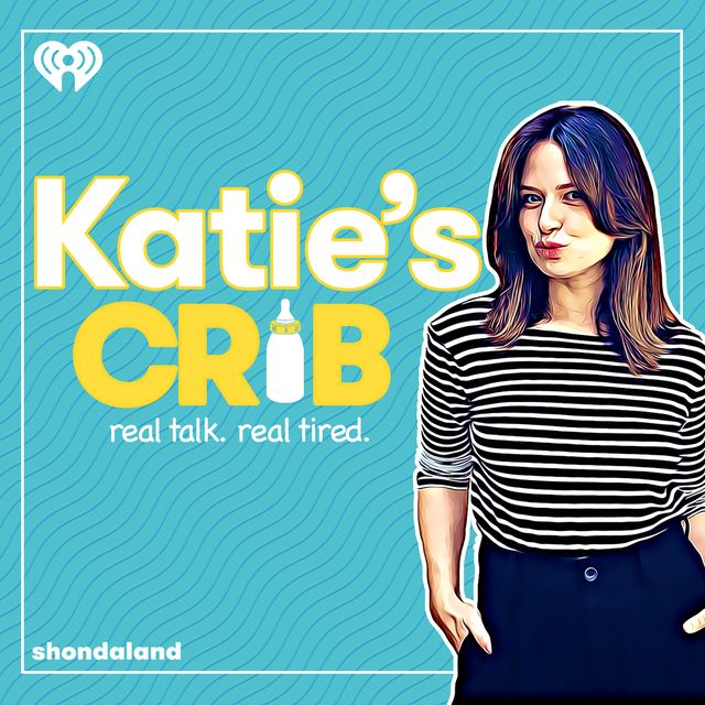"""katie lowes for the third season of her podcast, """"katie's crib"""""""