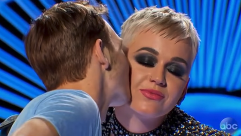 katy perry american idol kiss