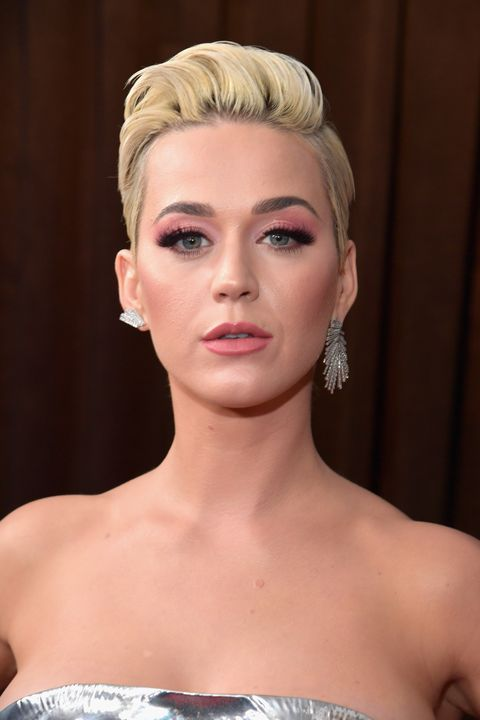 Katy Perry Pixie Hair - 61st Annual GRAMMY Awards - Red Carpet