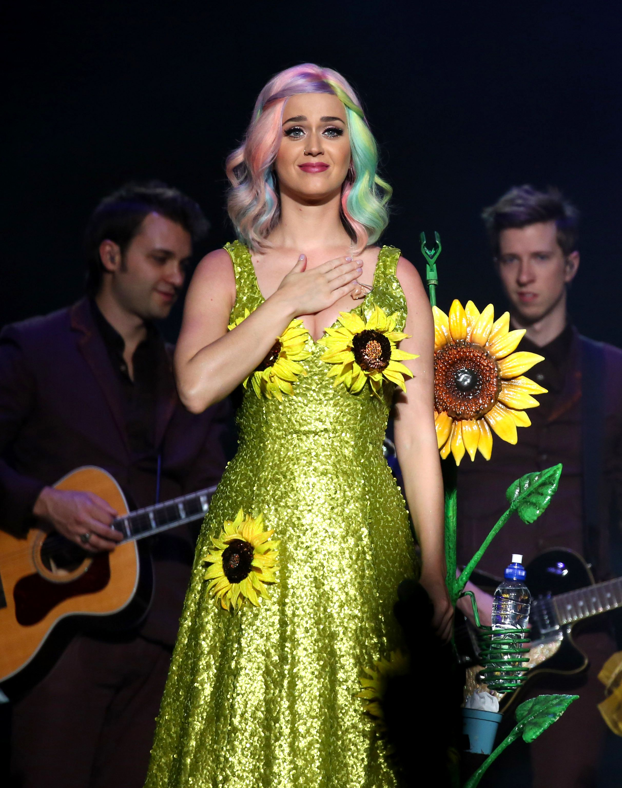 katy perry sunflower dress