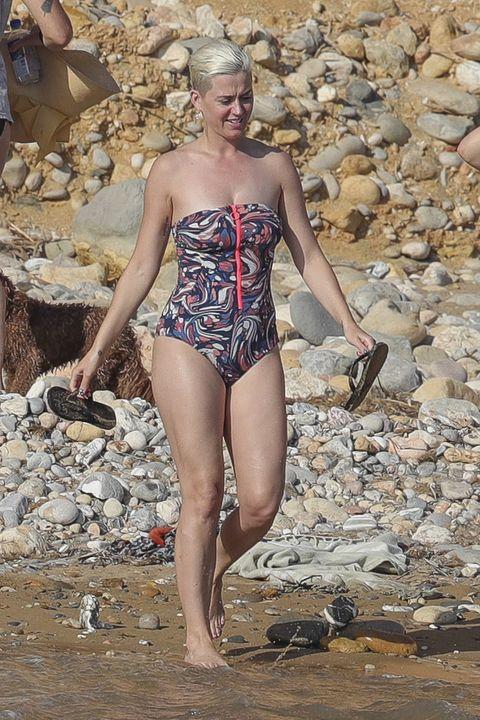 Clothing, One-piece swimsuit, Beauty, Swimwear, Leotard, Fashion, Bikini, Undergarment, Blond, Model,