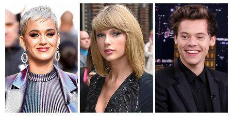 Katy Perry, Taylor Swift, and Harry Styles