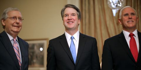 Supreme Court Nominee Brett Kavanaugh Meets With VP Pence And Sen. McConnell