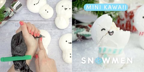 Who needs real snow when you've got these adorable snowman cakes?