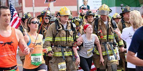 Kayley Drake finishing OKC Memorial Half Marathon