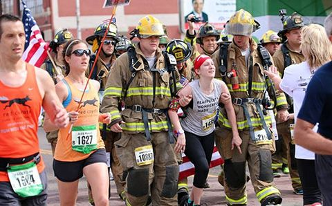 Firefighters Help Runner with Cerebral Palsy Finish Half Marathon