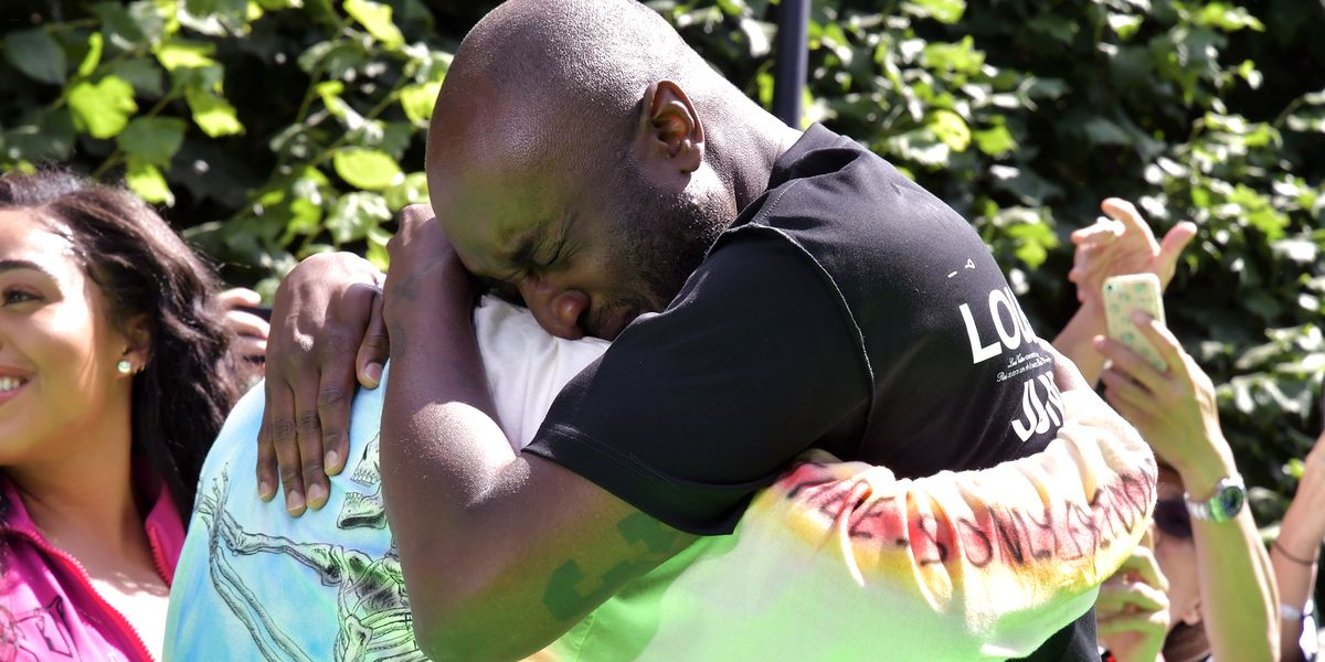 Kanye West And Virgil Abloh Hug And Cry At Finale Of Louis