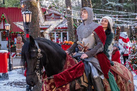 the knight before christmas   josh whitehouse, vanessa hudgens   photo credit netflix  brooke palmer
