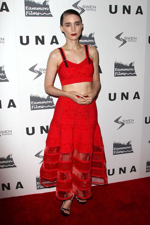 Clothing, Red carpet, Red, Dress, Carpet, Cocktail dress, Shoulder, Premiere, Fashion model, Fashion,