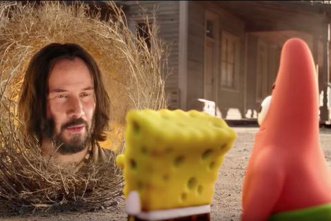 keanu reeves spongebob movie
