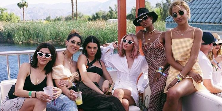 Kendall Jenner with friends
