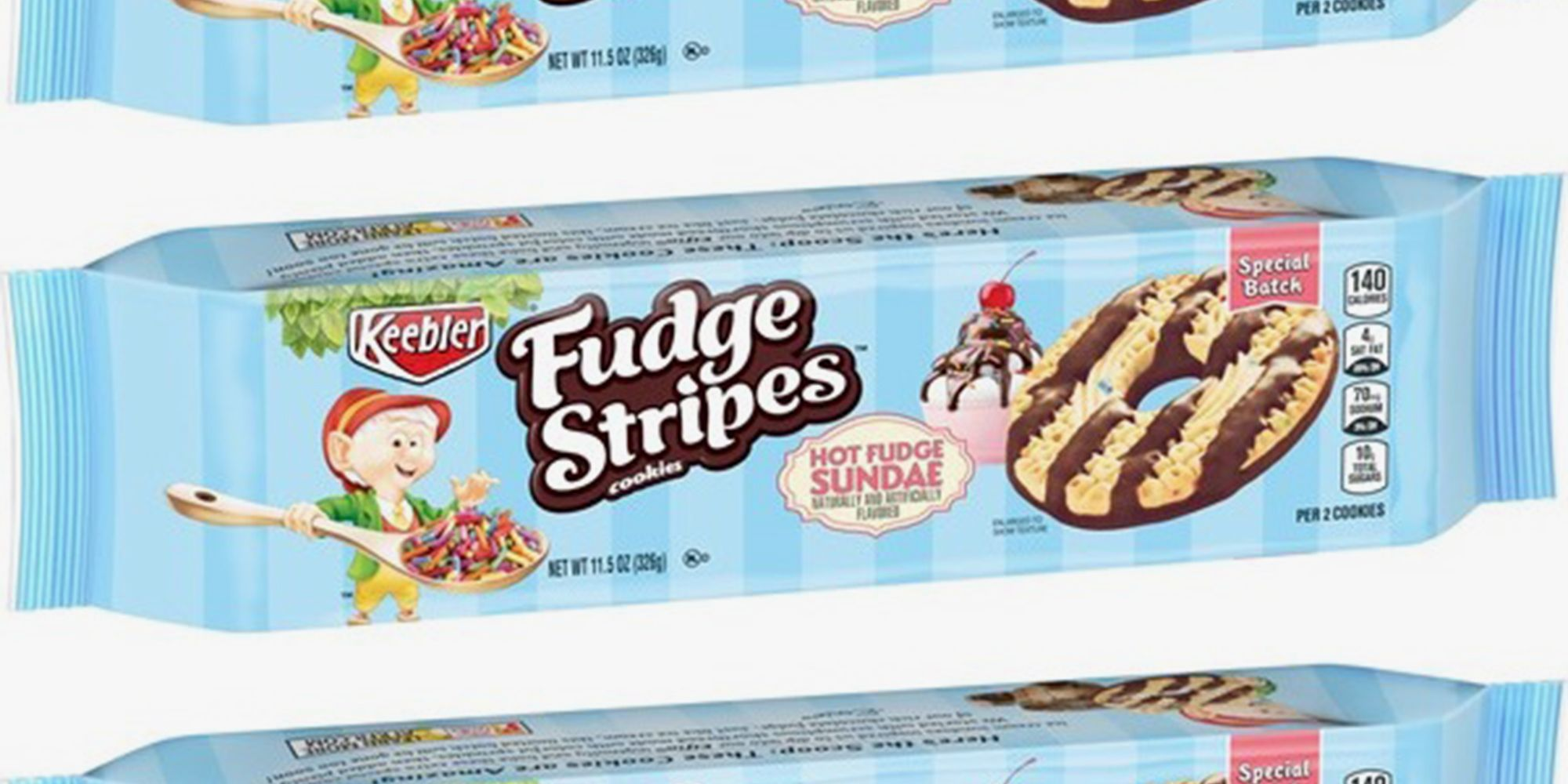 Keebler's New Fudge Stripes Are Like A Hot Fudge Sundae In A Cookie