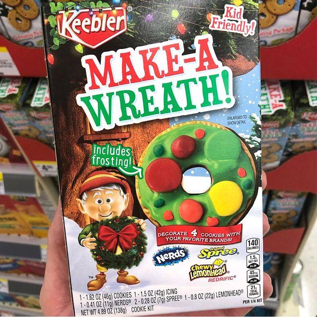 keebler make a wreath cookie kit