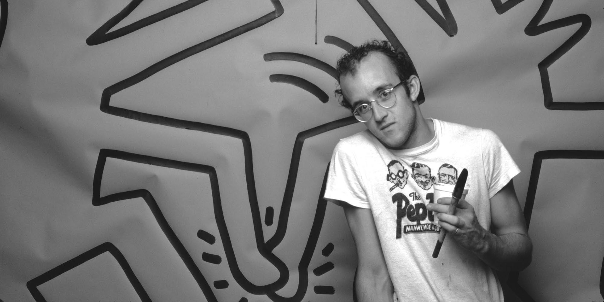 Keith Haring, kunstwerk, streetart, Amsterdam