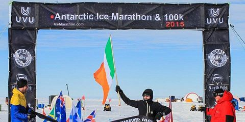 Keith Whyte wins Antarctic Ice 100K