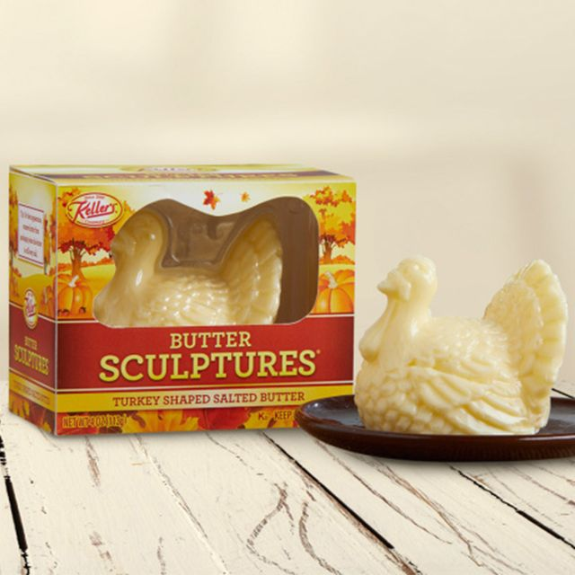 turkey shaped butter sculpture from keller's creamery