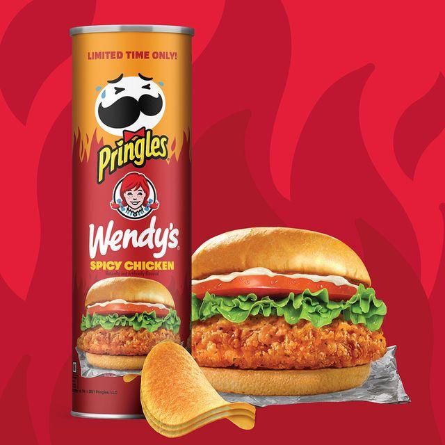 kellogg company pringles wendy's spicy chicken sandwich chips