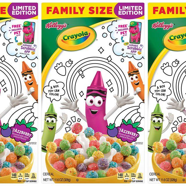 kellogg's crayola jazzberry cereal