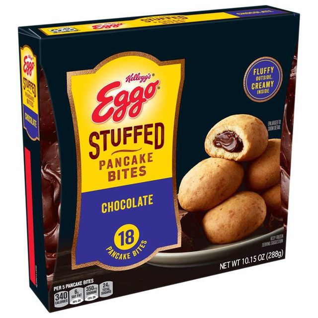 kellogg's eggo chocolate stuffed pancake bites