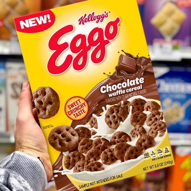 kellogg's eggo chocolate waffle cereal