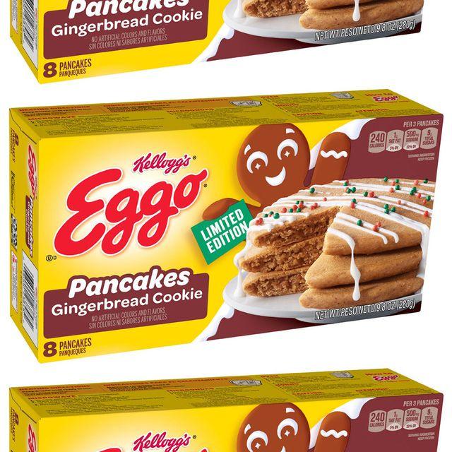 kellogg's eggo gingerbread cookie pancakes