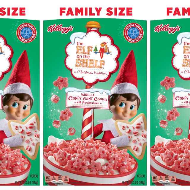 kellogg's elf on the shelf vanilla candy cane with marshmallow cereal