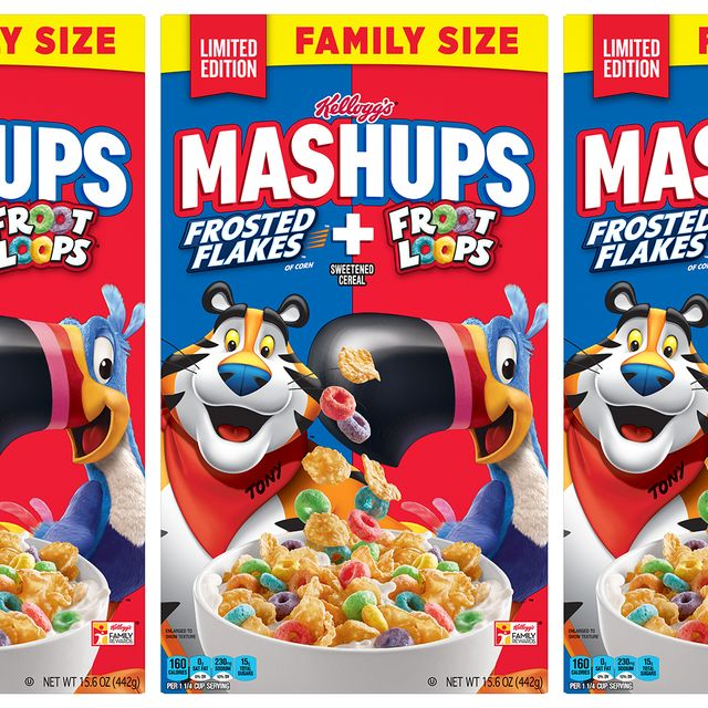kellogg's frosted flakes froot loops mashups cereal
