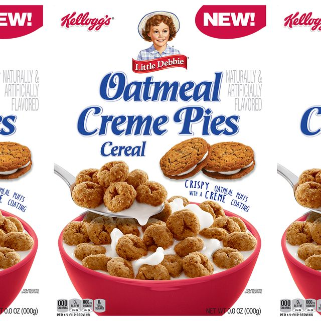 oatmeal creme pies cereal from kellogg's and little debbie